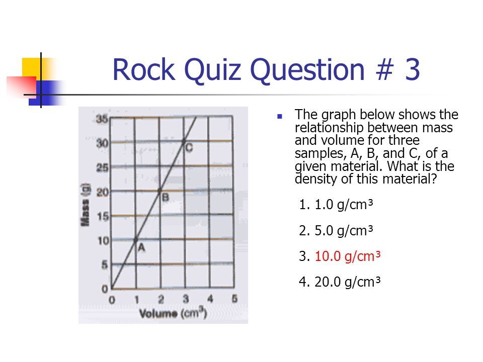 Rock Quiz Question # 3