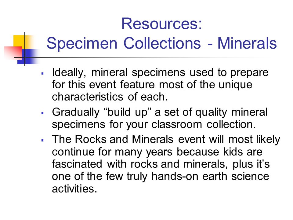 Resources: Specimen Collections - Minerals