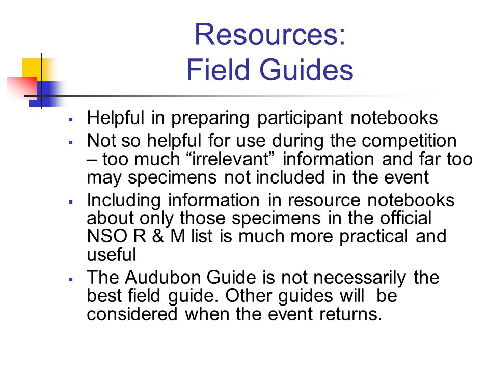 Resources: Field Guides