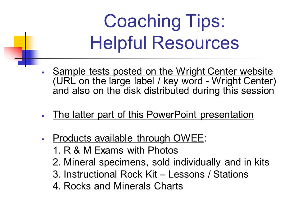 Coaching Tips: Helpful Resources