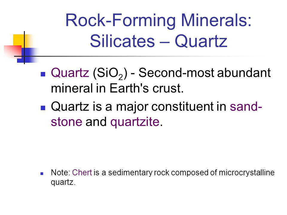 Rock-Forming Minerals: Silicates – Quartz