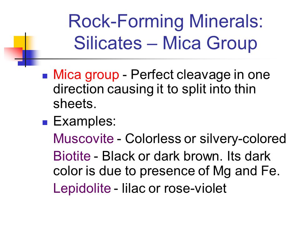 Rock-Forming Minerals: Silicates – Mica Group