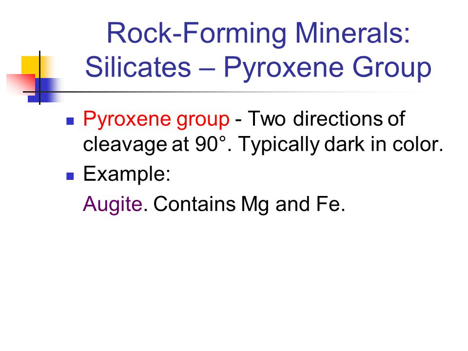 Rock-Forming Minerals: Silicates – Pyroxene Group