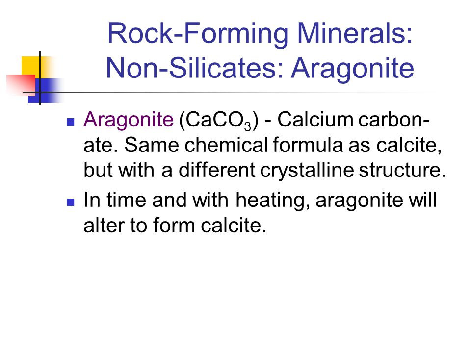 Rock-Forming Minerals: Non-Silicates: Aragonite