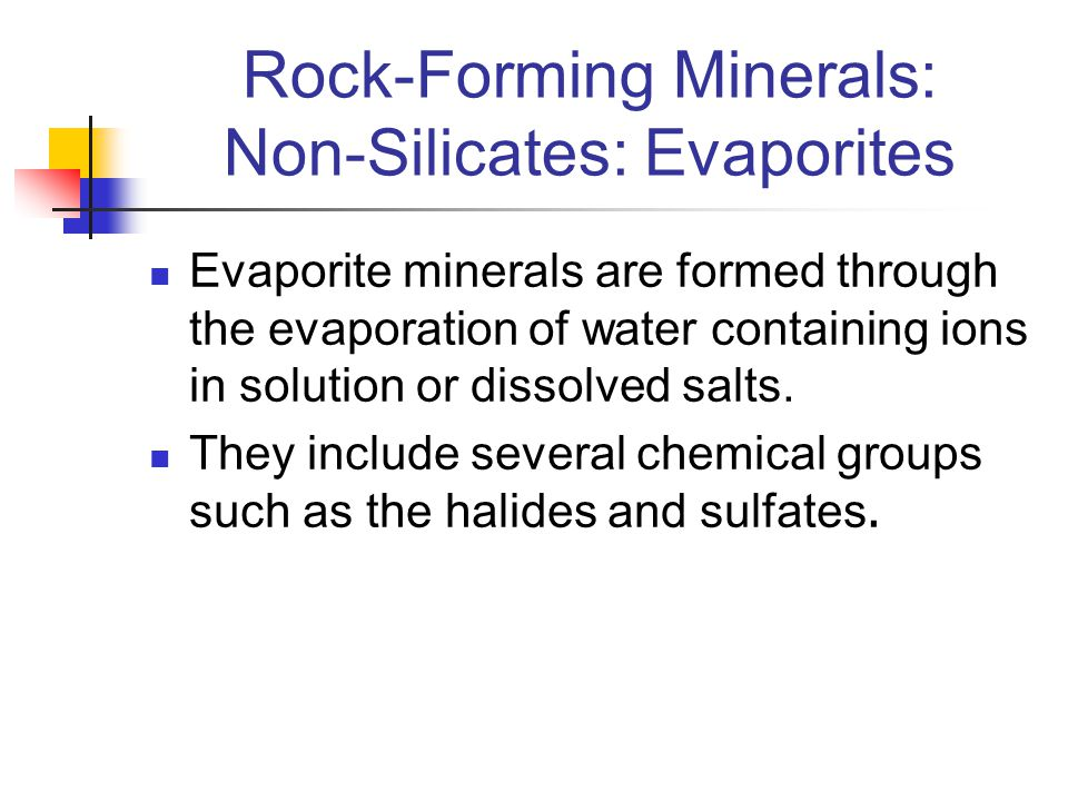Rock-Forming Minerals: Non-Silicates: Evaporites