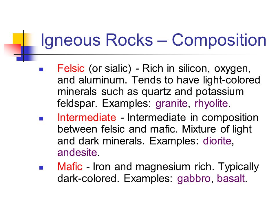 Igneous Rocks – Composition