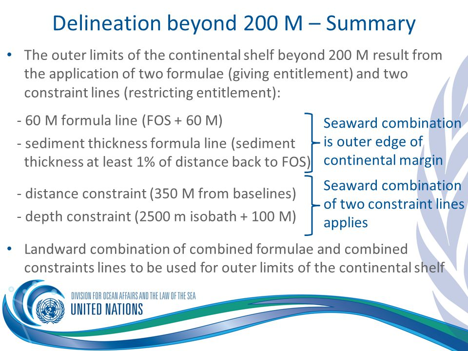 Delineation beyond 200 M – Summary
