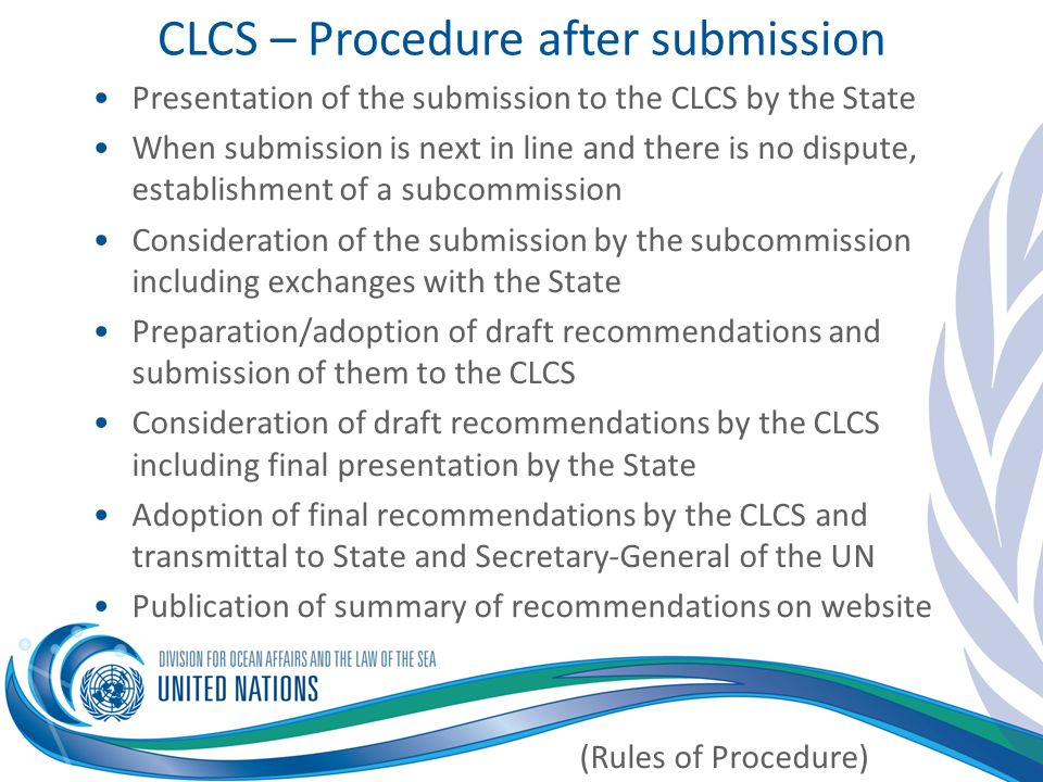CLCS – Procedure after submission
