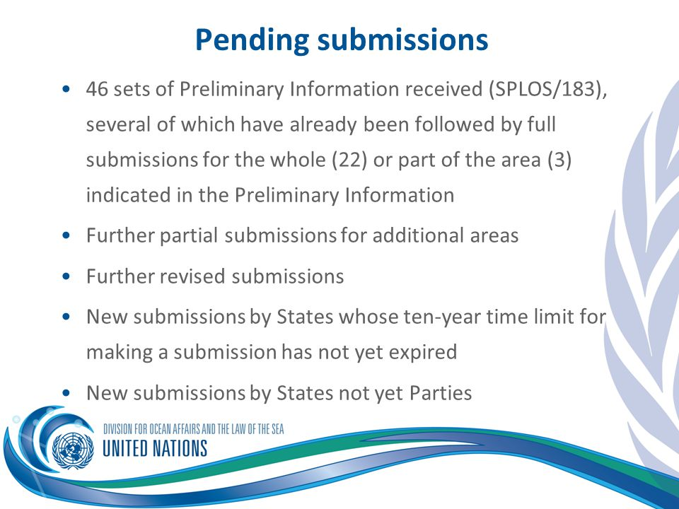 Pending submissions