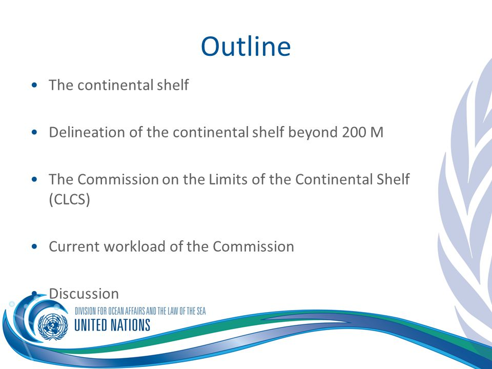 Outline The continental shelf