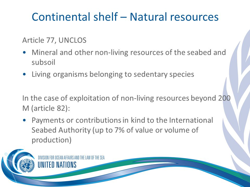 Continental shelf – Natural resources