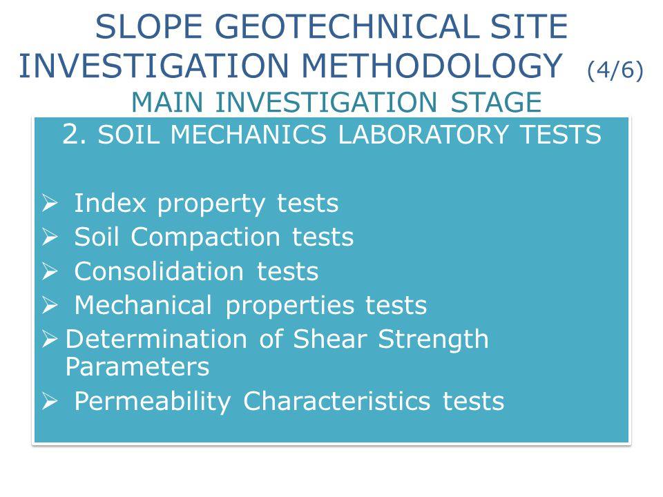 2. SOIL MECHANICS LABORATORY TESTS