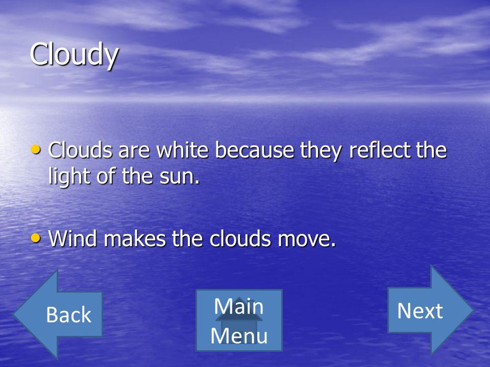 Cloudy Next Back Main Menu