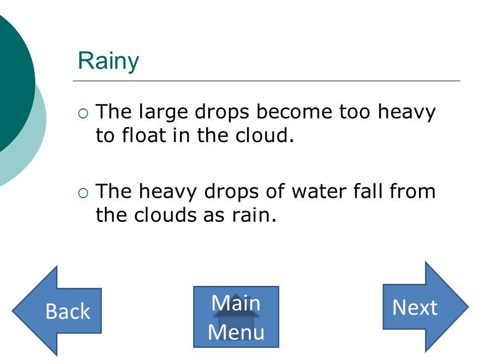Rainy Next Back Main Menu