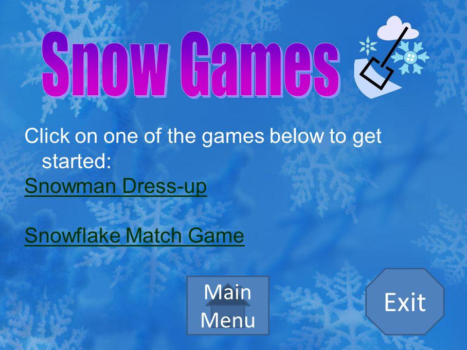 Exit Snow Games Main Menu