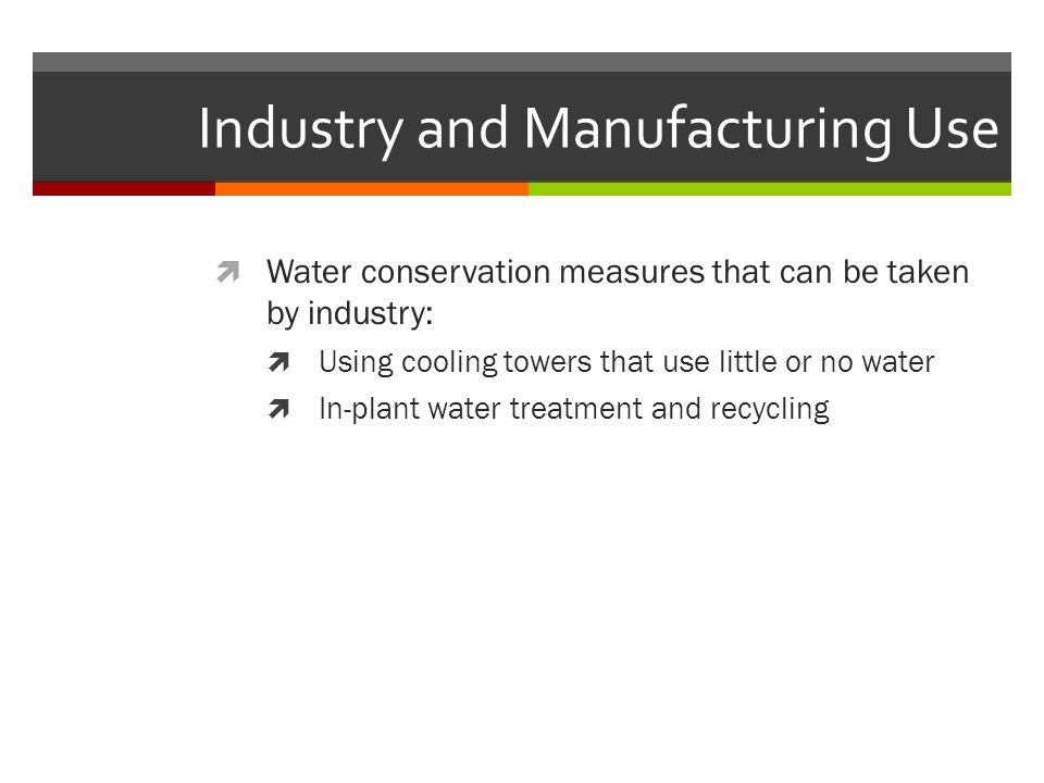 Industry and Manufacturing Use