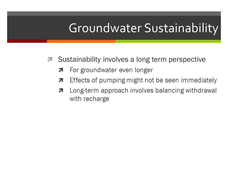 Groundwater Sustainability