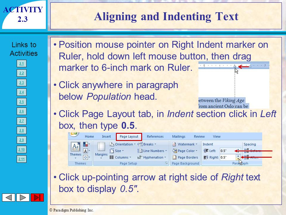 Aligning and Indenting Text