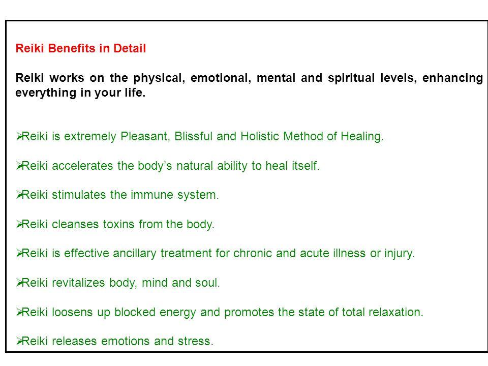Reiki Benefits in Detail