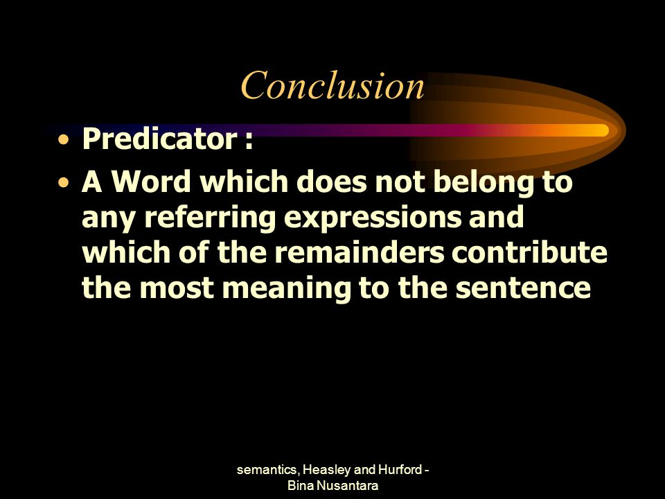semantics, Heasley and Hurford - Bina Nusantara