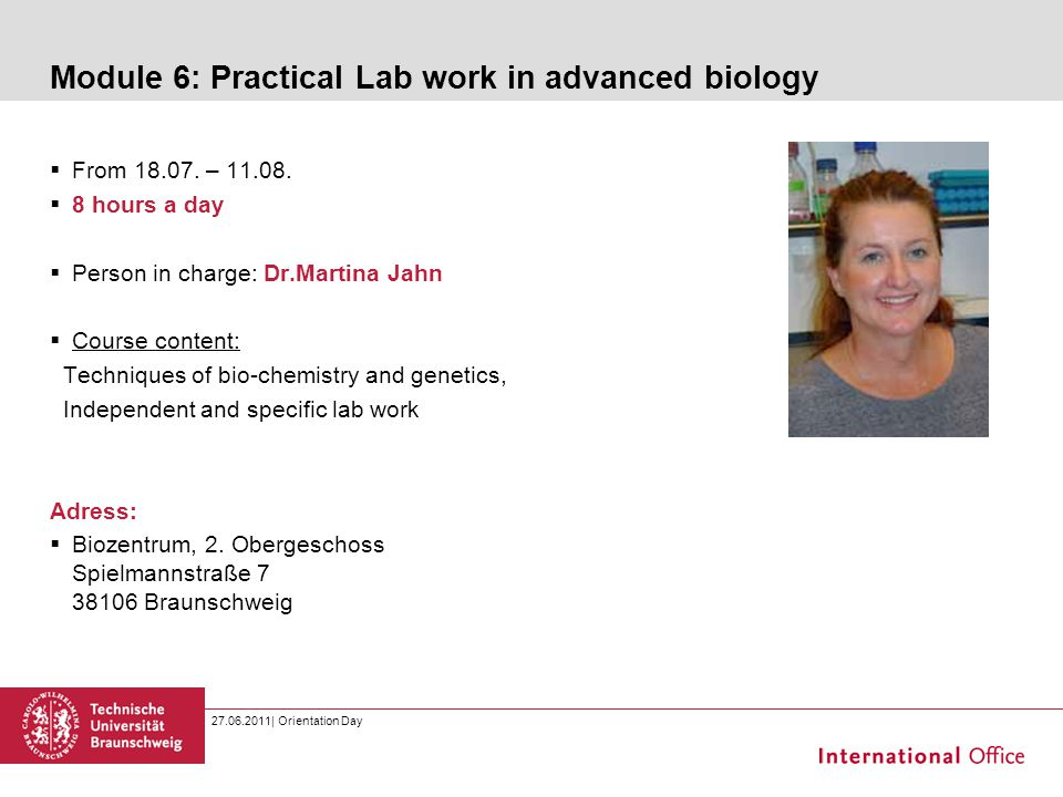 Module 6: Practical Lab work in advanced biology