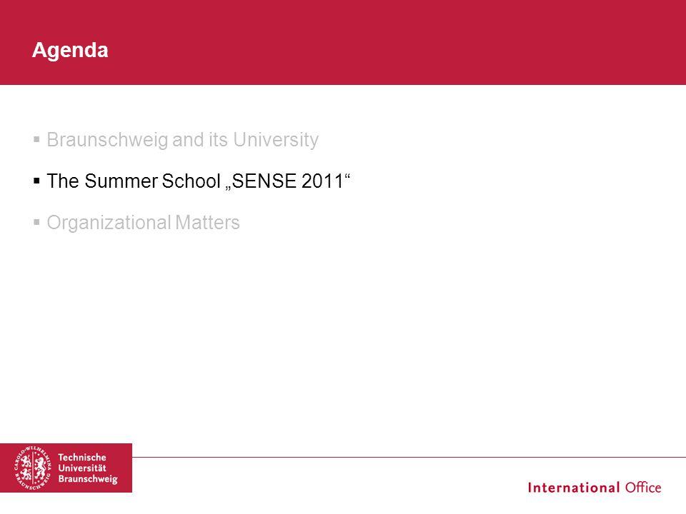 "Agenda Braunschweig and its University The Summer School ""SENSE 2011"