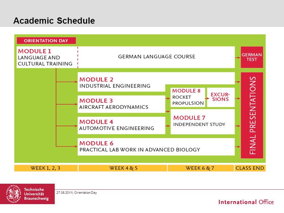 Academic Schedule 27.06.2011  Orientation Day