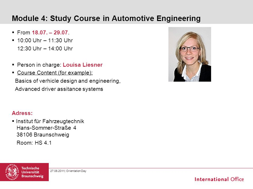 Module 4: Study Course in Automotive Engineering