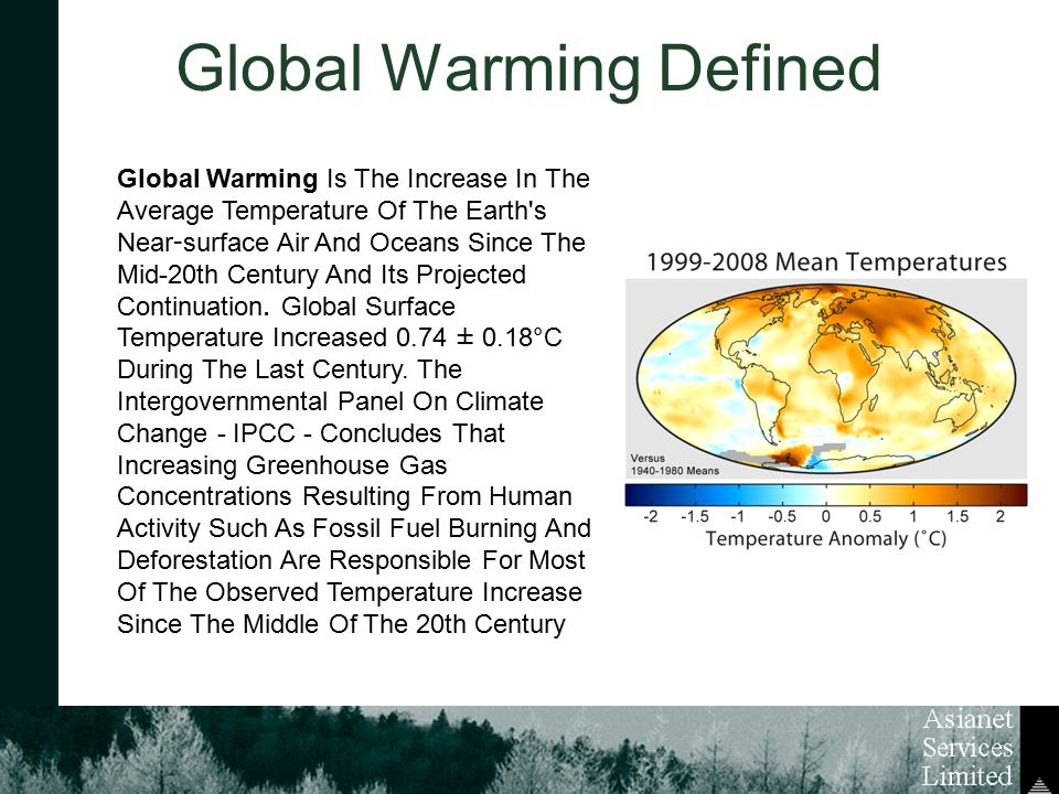 a definition and results of global warming Enter a term in the search box to find its definition  what is global warming and the greenhouse effect  if recent warming were the result of accumulating .