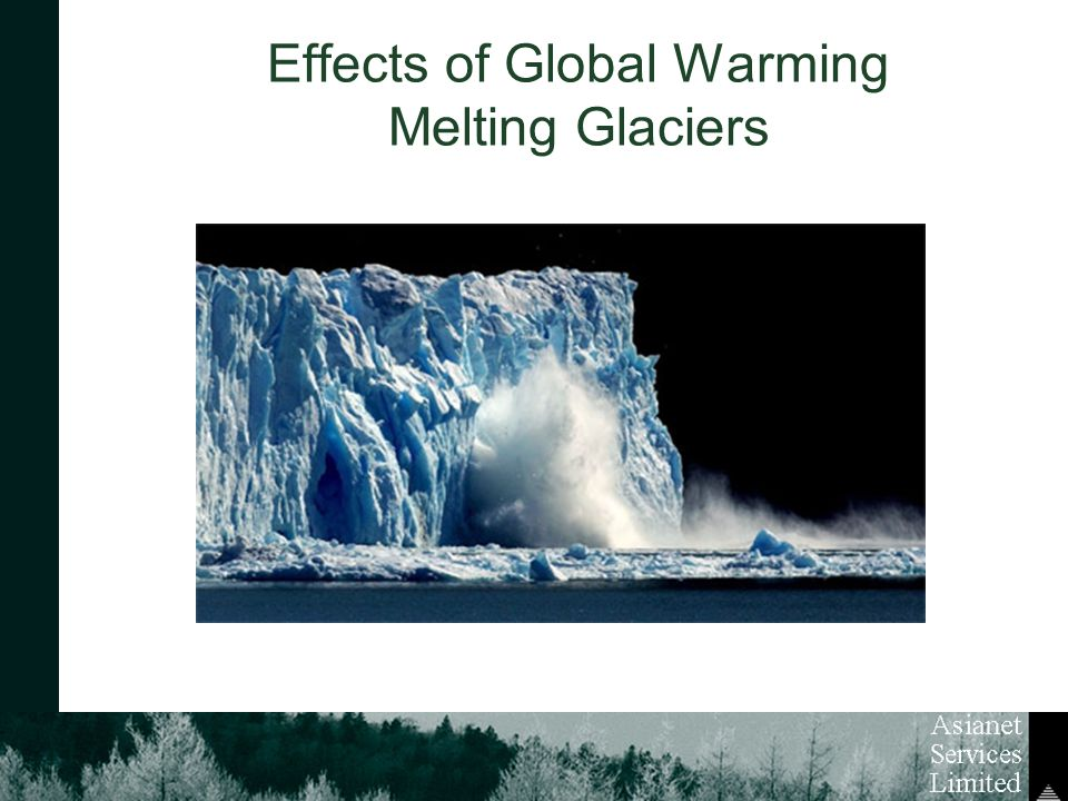 Effects of Global Warming Melting Glaciers
