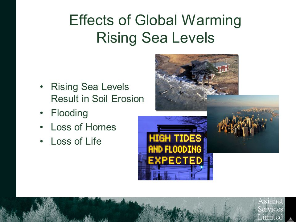 Effects of Global Warming Rising Sea Levels