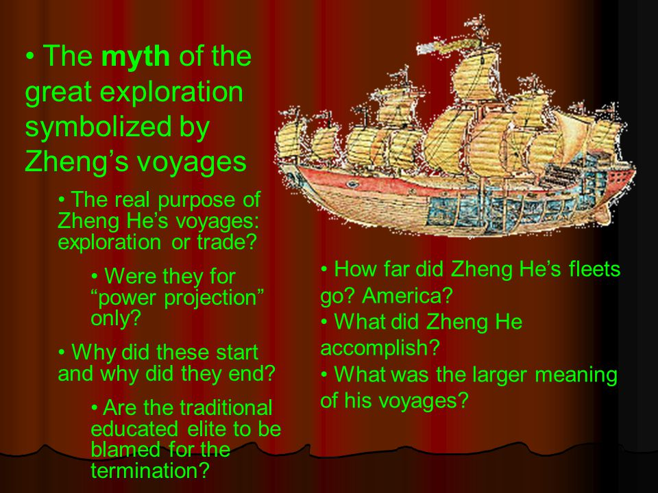 The myth of the great exploration symbolized by Zheng's voyages