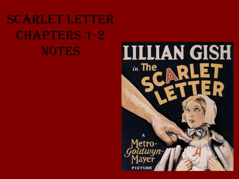 Scarlet Letter Chapters 1-2 Notes