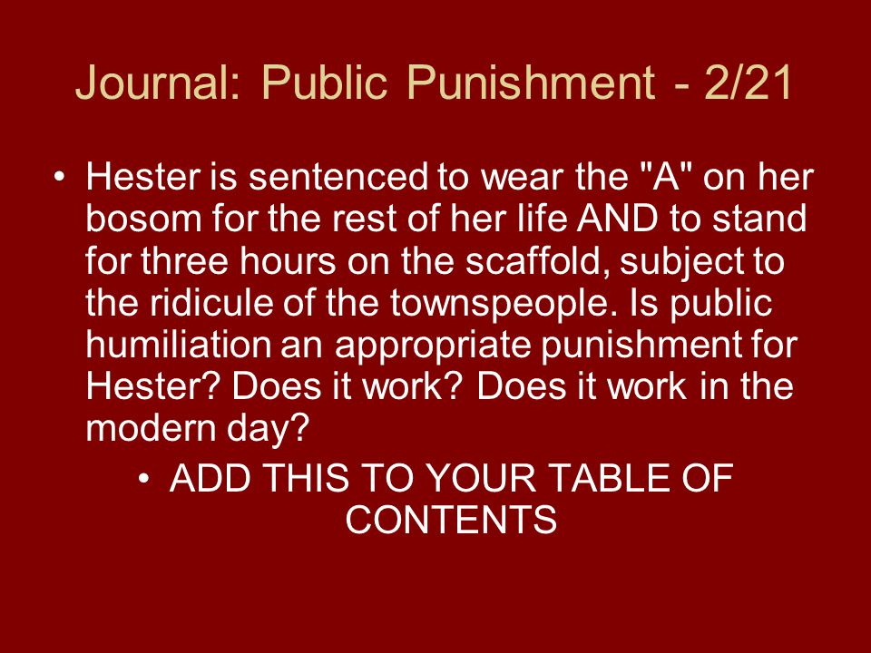 a scarlet letter chapters 1 and Chapter summaries chapter 1: in this chapter, the reader is introduced to one of the main objects to inhabit the town of boston, massachusetts, the prison.