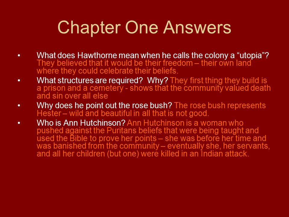 Chapter One Answers