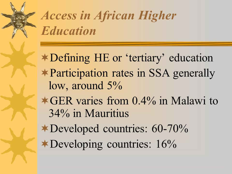 Access in African Higher Education