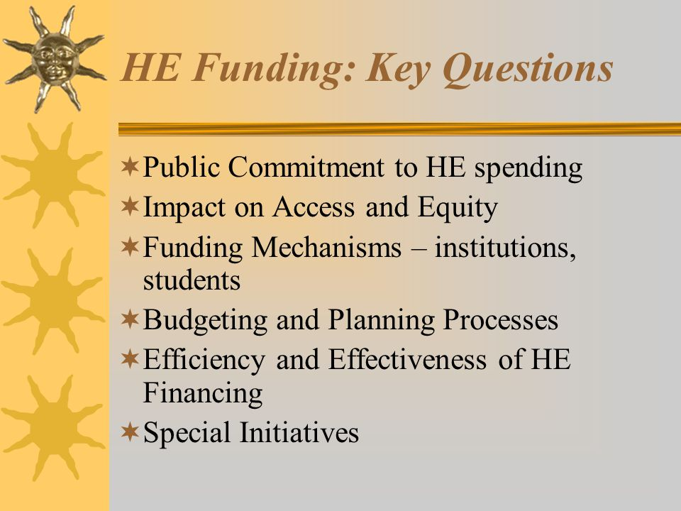 HE Funding: Key Questions