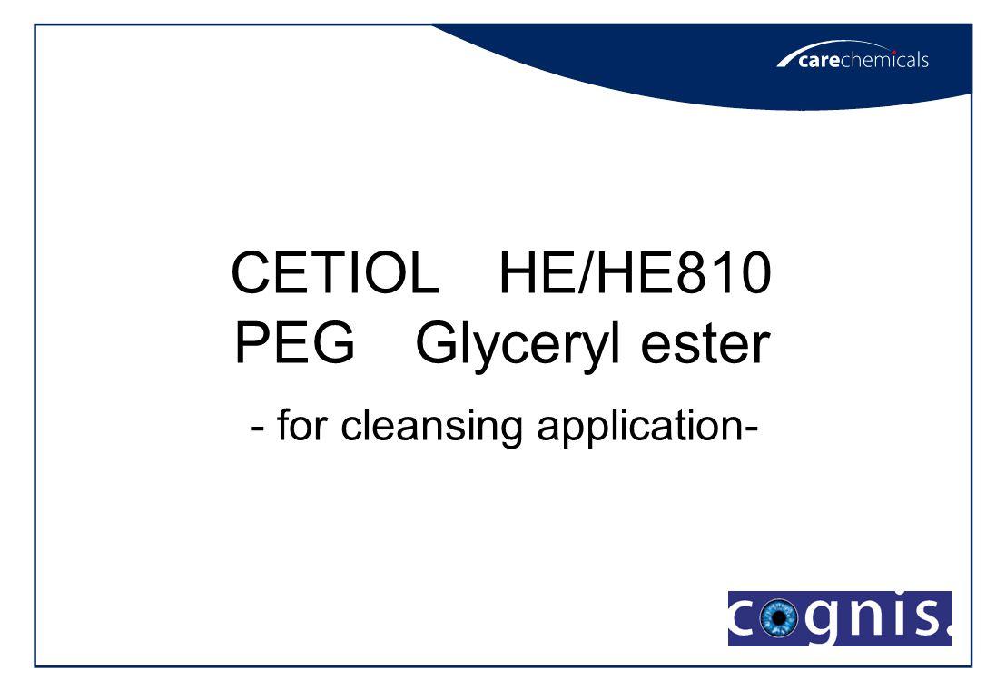 CETIOL HE/HE810 PEG Glyceryl ester