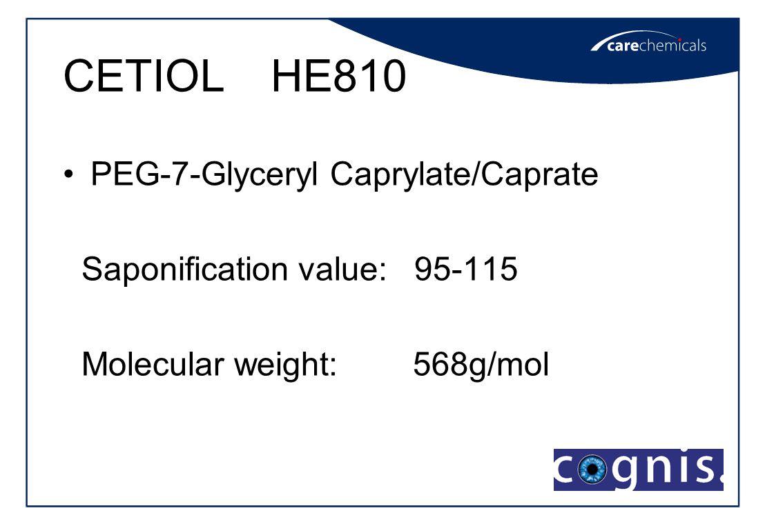 CETIOL HE810 PEG-7-Glyceryl Caprylate/Caprate