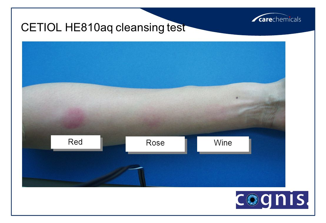 CETIOL HE810aq cleansing test