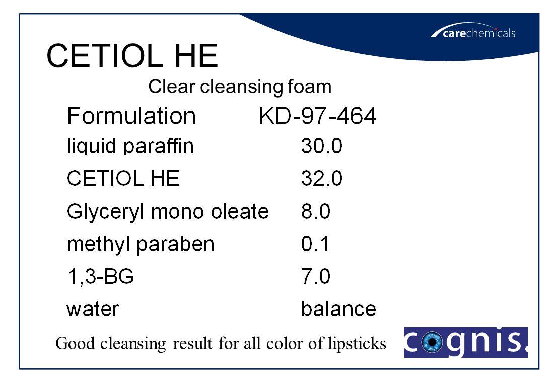 CETIOL HE Clear cleansing foam