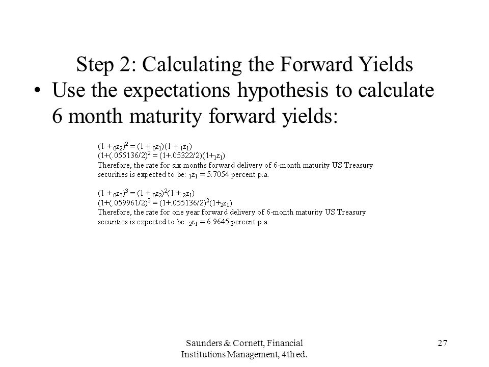Step 2: Calculating the Forward Yields
