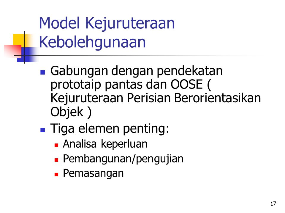 Model Kejuruteraan Kebolehgunaan