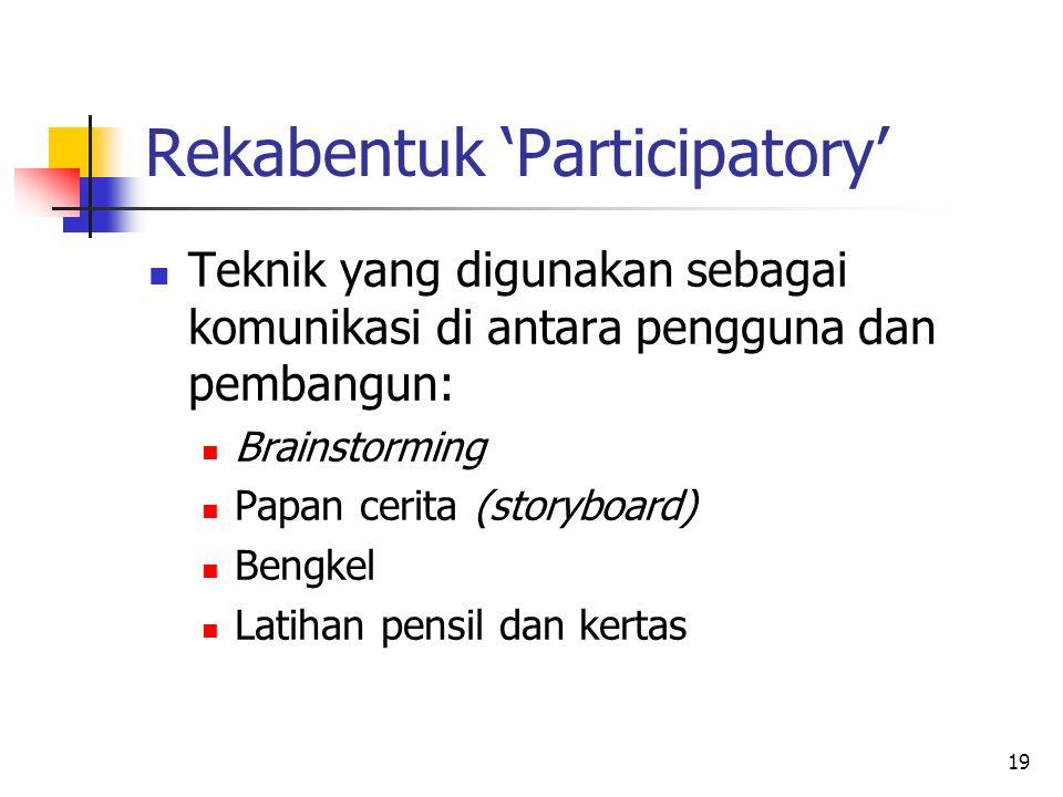 Rekabentuk 'Participatory'