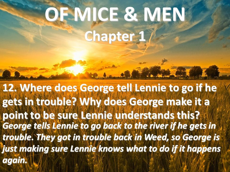 OF MICE & MEN Chapter 1