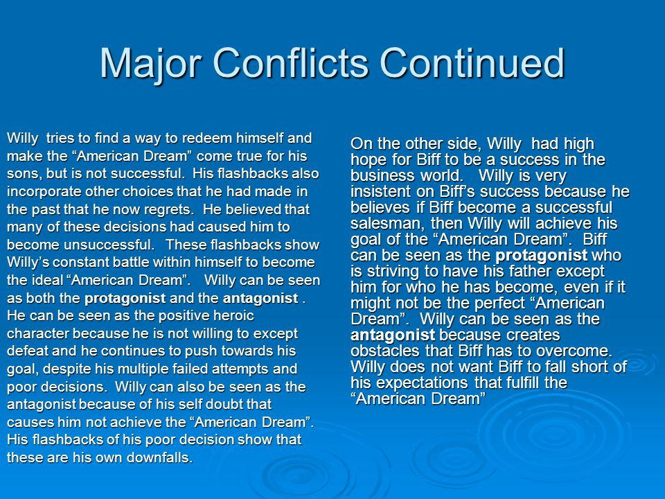 Major Conflicts Continued