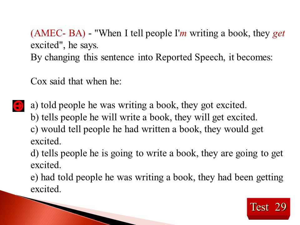 (AMEC- BA) - When I tell people I m writing a book, they get excited , he says.