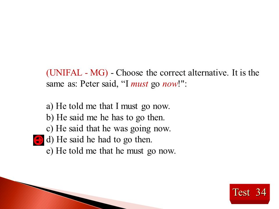 (UNIFAL - MG) - Choose the correct alternative