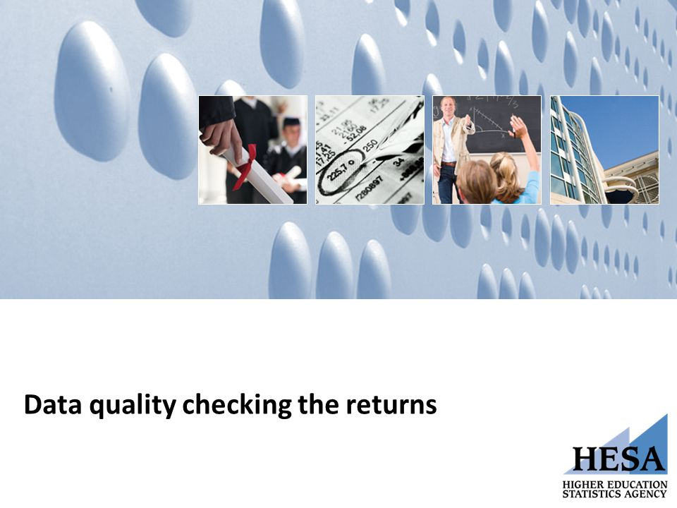 Data quality checking the returns