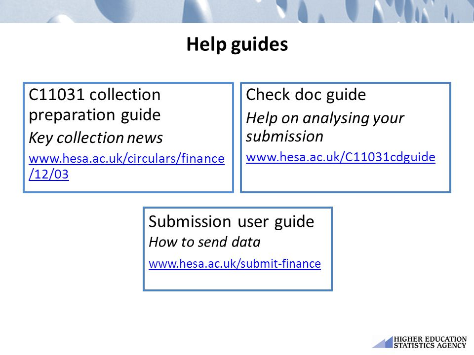 Help guides C11031 collection preparation guide Check doc guide